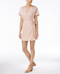 Bar Iii Faux Wrap Dress Only At Macy's Ballet Pink