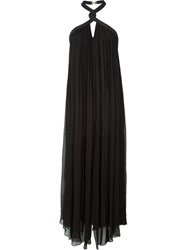 Jay Ahr Rope Detail Halterneck Dress Black