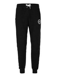 Hype Black Ribbed Textured Joggers