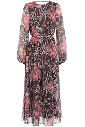 Iro Aby Printed Silk Chiffon Dress Red