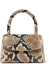 By Far Mini Snake Effect Leather Tote Snake Print