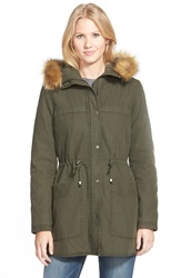 Levi's Parka With Faux Fur And Faux Shearling Army