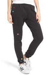 Wildfox Couture Women's Knox Heart Embroidered Sweatpants