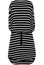 Maison Martin Margiela Mm6 Oversized Striped Knitted Dress Black
