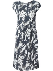Steffen Schraut Palm Tree Print Dress Black