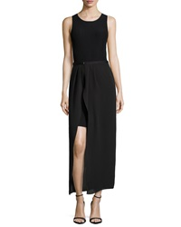 Halston Heritage Sleeveless Dress With Detachable Maxi Skirt Medium