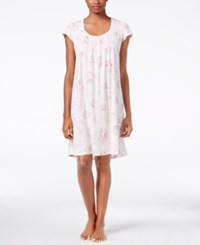 Miss Elaine Lace Trimmed Nightgown Pink Rose