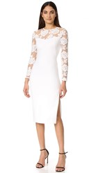 Black Halo Aymee Sheath Dress Whip Cream Natural White