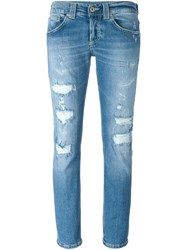 Dondup Ripped Skinny Jeans Blue