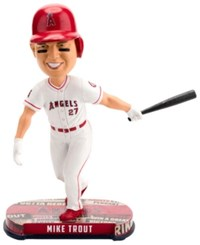 Forever Collectibles Mike Trout Los Angeles Angels Headline Bobblehead Red White