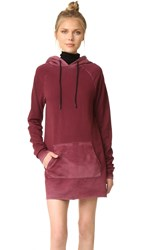 Cotton Citizen The Milan Long Sleeve Dress Burgundy