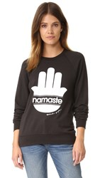 Spiritual Gangster Namaste Stripes Sweatshirt Vintage Black