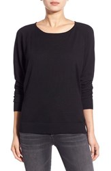 Women's Splendid Scoop Neck Pullover Sweater Black