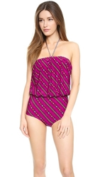 Tigerlily Es Cavellet One Piece Swimsuit Dark Peonie