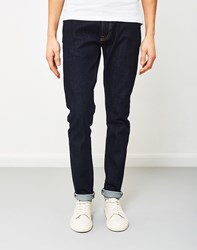 Edwin Ed 85 Slim Tapered Drop Crotch Red Listed Selvage Denim Rinsed Navy