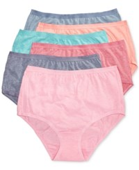 Fruit Of The Loom 6 Pk. Briefs 6Dpusb1 Blue Collar Fresh Candy Hearts Mystic Coral Sin