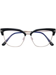 Tom Ford Eyewear Cat Eye Shaped Glasses Black