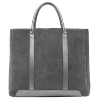 Reiss Suede Tote Bag Charcoal