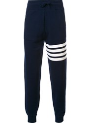Thom Browne Striped Detail Joggers Blue