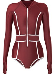 Duskii Contrast Edge One Piece Red