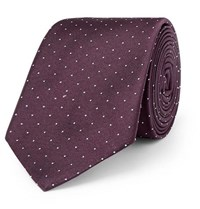 Paul Smith 6Cm Pin Dot Silk Twill Tie Burgundy