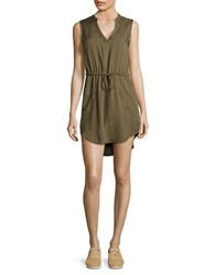 Bb Dakota Drawstring Waist Dress Sage