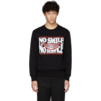Stella Mccartney Black 'No Smile No Service' Ian Sweatshirt
