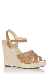 Oasis Odette Overlay Wedge Sandal Neutral