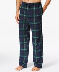 Perry Ellis Plaid Flannel Pajama Pants Navy Green