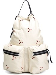 Raf Simons Eyelet Detail Backpack Nude And Neutrals