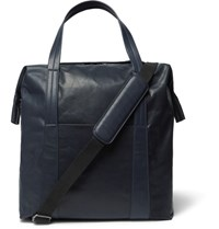 Maison Martin Margiela Leather Tote Bag Navy