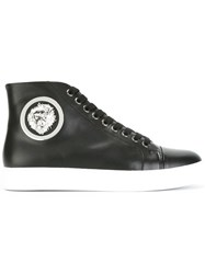Versus Lion Embellished High Top Sneakers Black