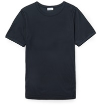 Schiesser Heinrich Cotton T Shirt Blue