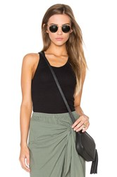 Monrow Scoop Neck Tank Black