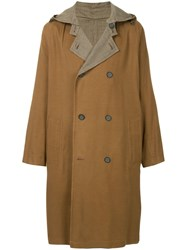 Tomorrowland Hooded Double Breasted Coat Brown