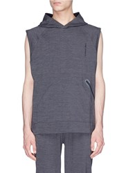 The Upside 'Recovery' Stretch Sleeveless Performance Hoodie Grey