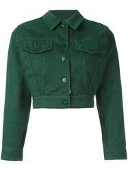 Jean Paul Gaultier Vintage Cropped Denim Jacket Green