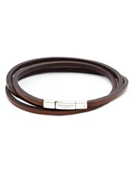 Tateossian Triple Wrap Bracelet Brown