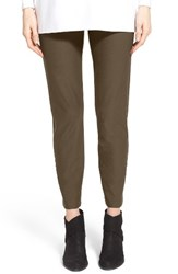 Eileen Fisher Petite Women's Stretch Crepe Slim Ankle Pants Surplus