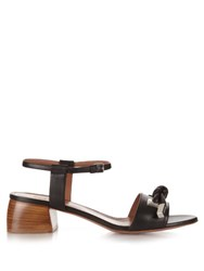Sportmax Risorsa Leather Sandals Black