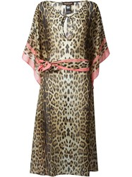 Roberto Cavalli Leopard Print Tunic Dress Brown