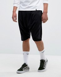 Asos Extreme Drop Crotch Shorts In Lightweight Jersey Black