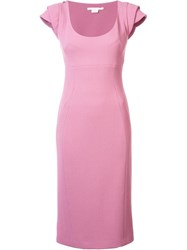 Antonio Berardi Off Centre Rear Zip Dress Pink Purple