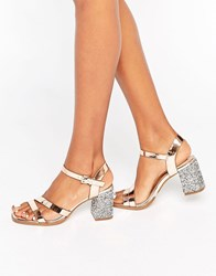 New Look Leopard Print Ankle Strap Ballet Pump Gold Stone