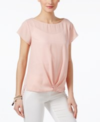 Inc International Concepts Twist Front T Shirt Only At Macy's Rose Tint