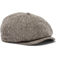 Rrl Donegal Wool Tweed Flat Cap Gray