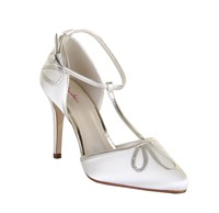 Rainbow Elspeth Retro Gold Ankle Strap Shoes Ivory
