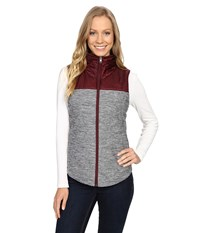 The North Face Pseudio Vest Tnf Medium Grey Heather Deep Garnet Red Women's Vest Gray
