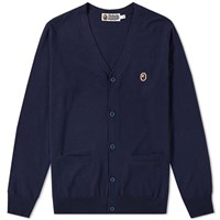 A Bathing Ape One Point Cardigan Blue