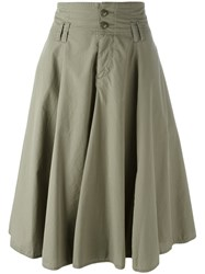 Closed Pleated Skirt Green